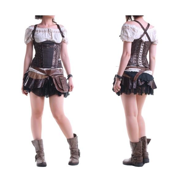 falda femenina steampunk