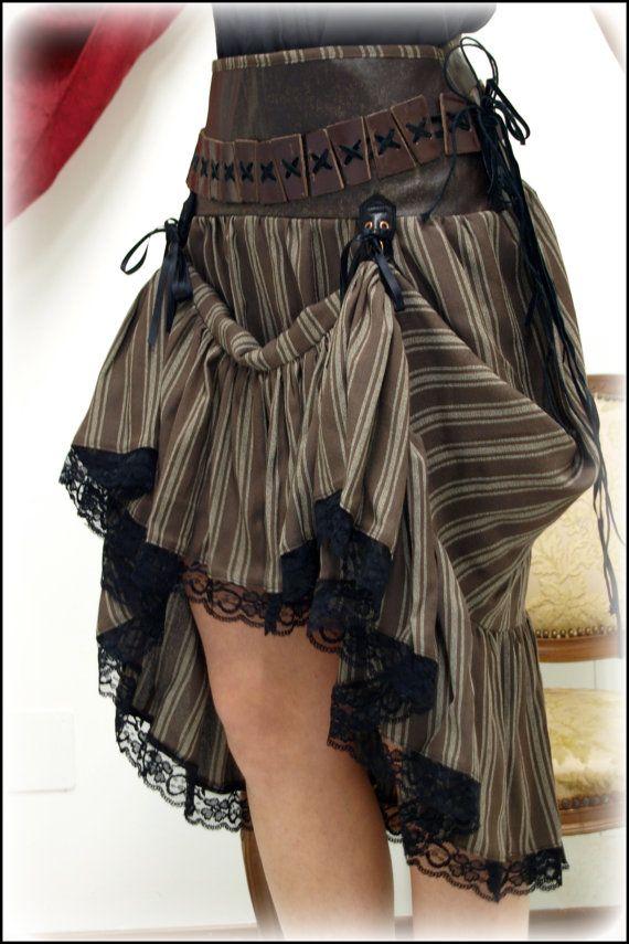 modelo creativo falda steampunk mujer