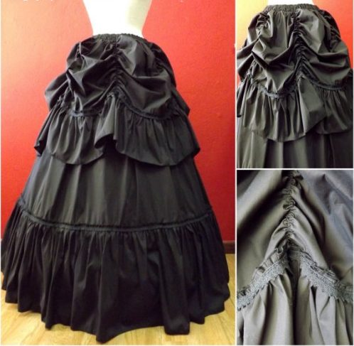 falda larga estilo steampunk mujer