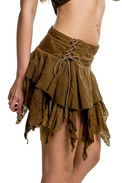 falda corta para mujer con estilo steampunk