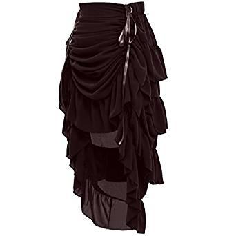 comprar en amazon falda marrón estilo steampunk