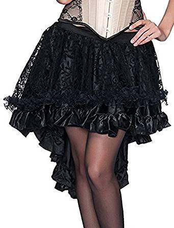 falda de color negro estilo steampunk comprar amazon