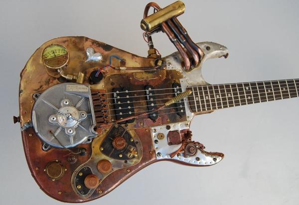 guitarra estilo steampunk