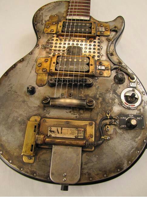 guitarra eléctrica moda steampunk