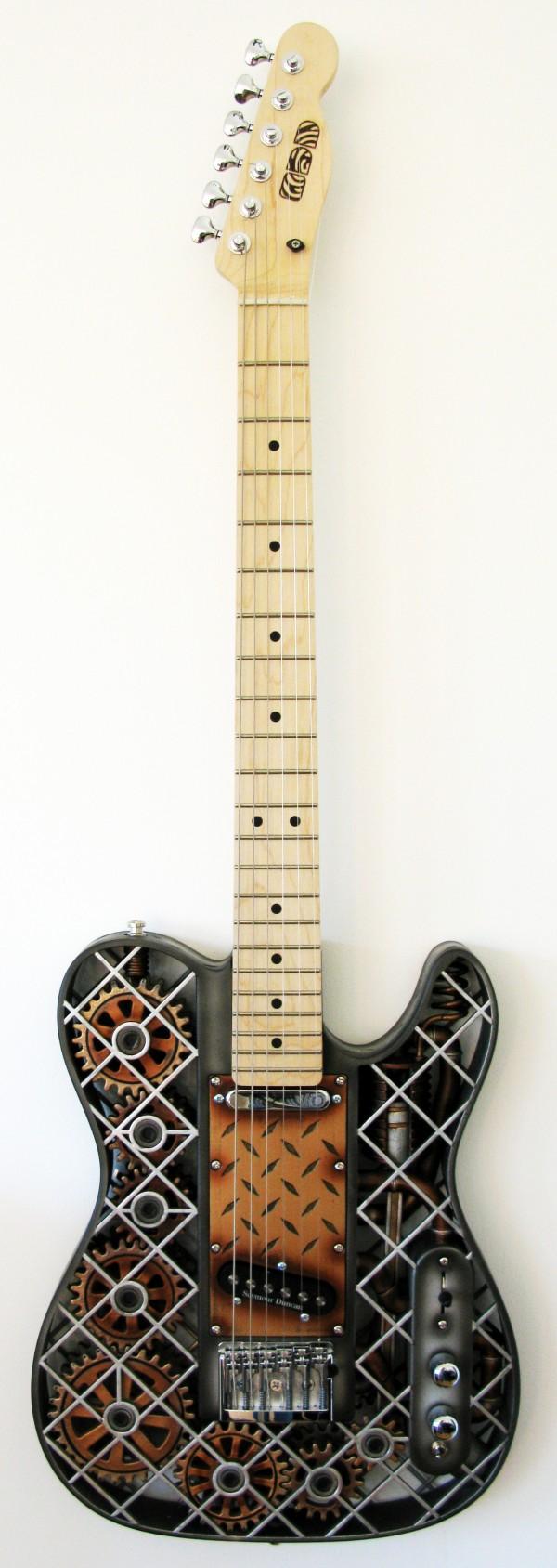 diseño victoriano guitarra steampunk