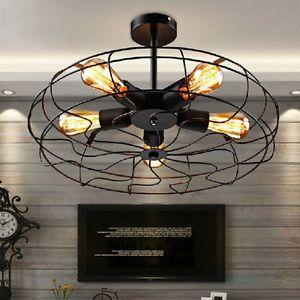 lámpara de techo estilo steampunk