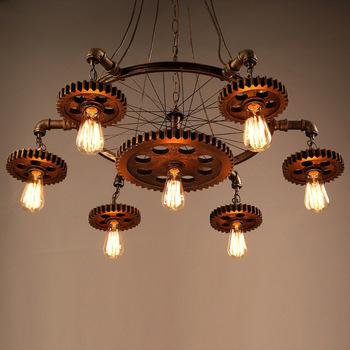 lámpara diseño steampunk