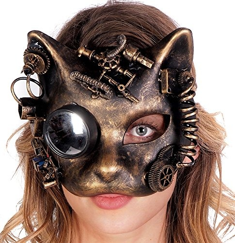 máscara de gato steampunk mujeres