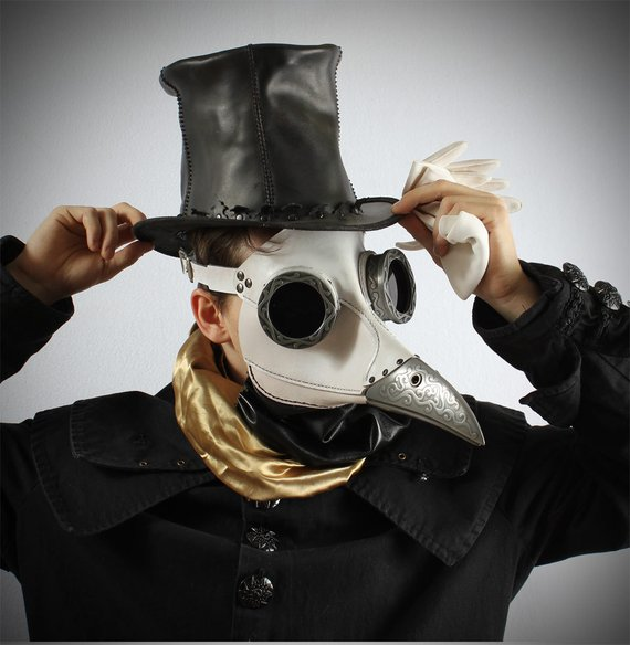 máscara cuervo steampunk