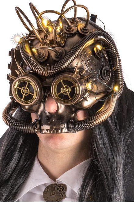 máscara steampunk original