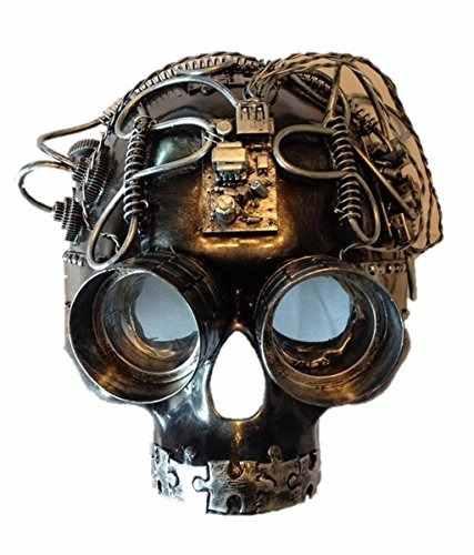 máscara steampunk con forma de calavera