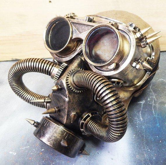máscara de gas steampunk diseño único