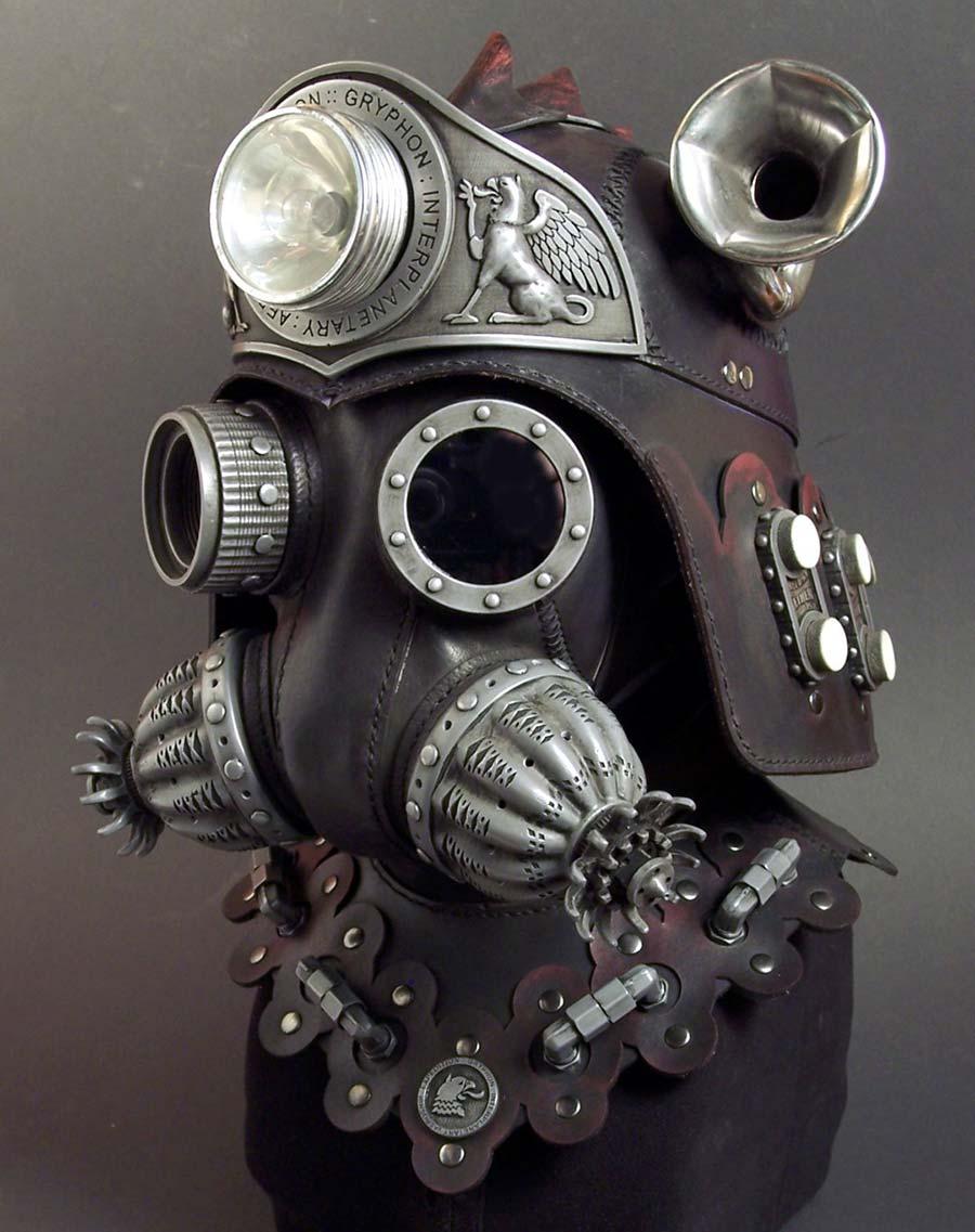 máscara con estilo steampunk