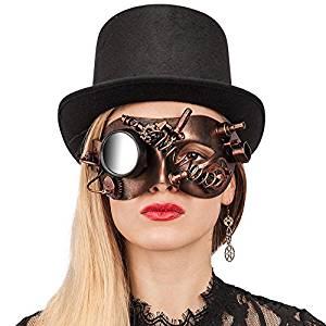 máscara steampunk femenina comprar amazon