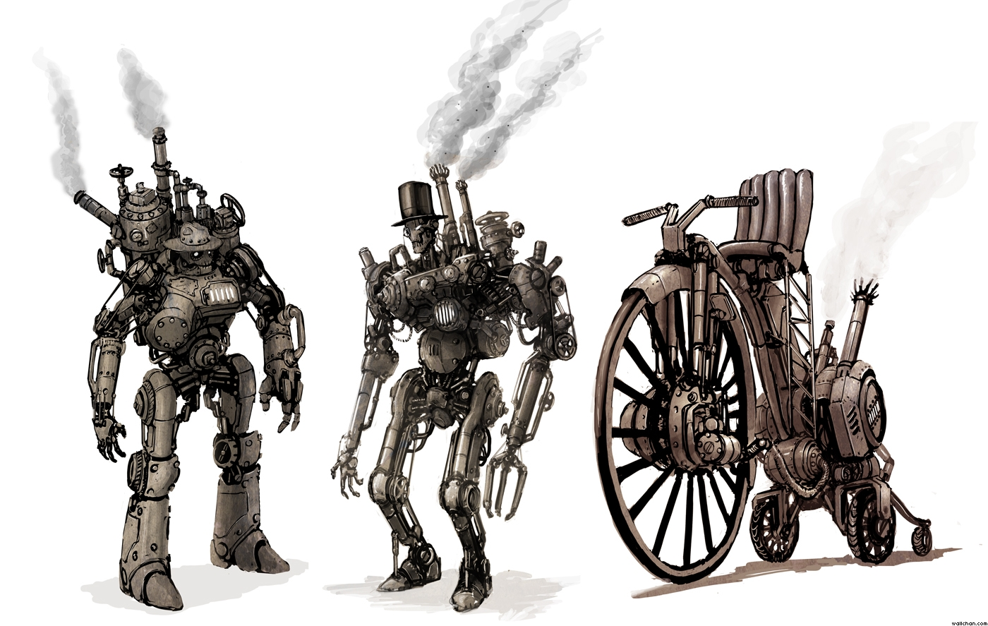 robot steampunk vapor
