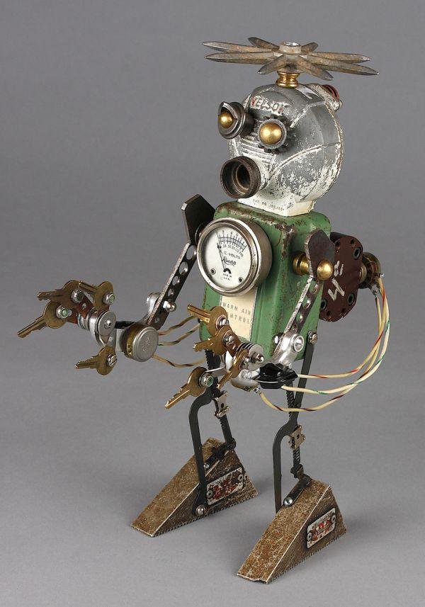 diseño básico robot steampunk