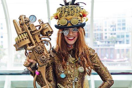 steampunk cosplay original dama