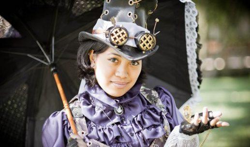 cosplay steampunk dama