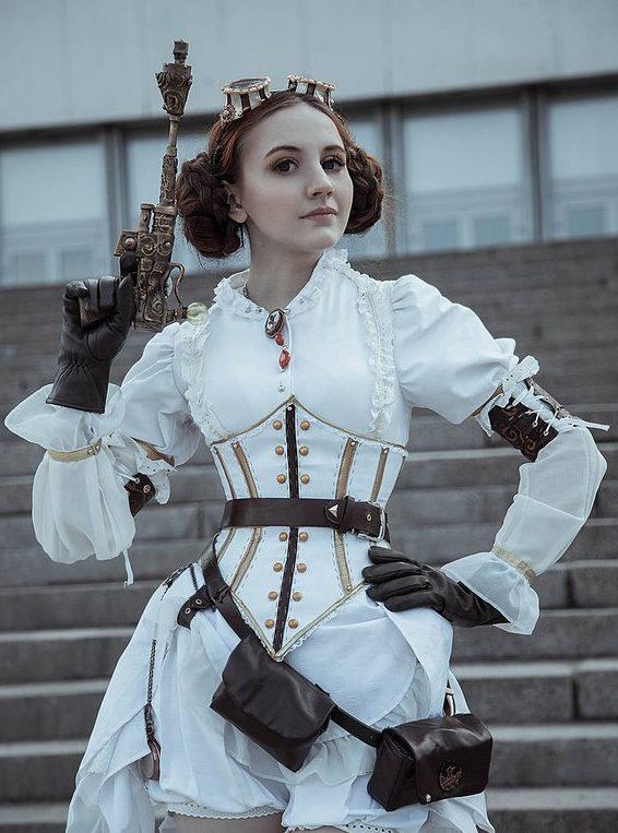 cosplay steampunk princesa leia star wars