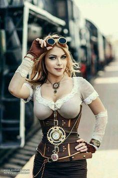 steampunk cosplay personaje ficción