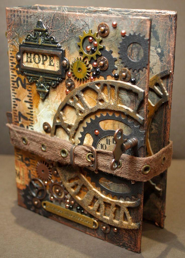 libro con estilo steampunk
