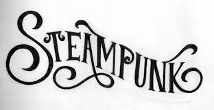 steampunk logo texto
