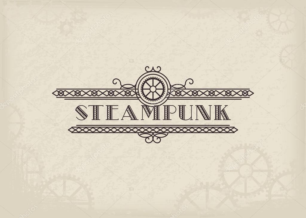 steampunk logo básico