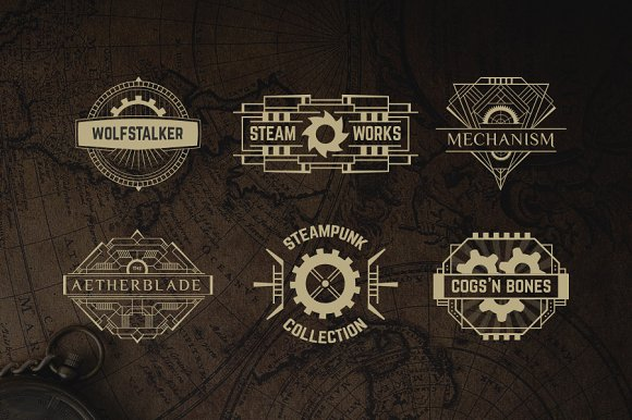 diseños logos steampunk