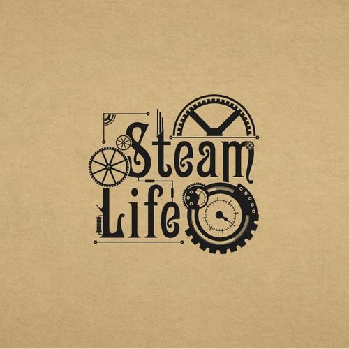 logo steampunk sencillo