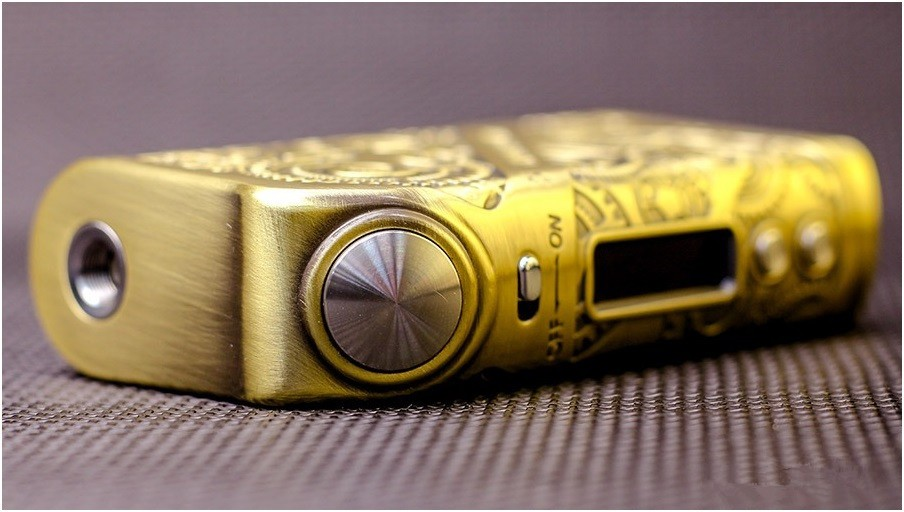botón de vapeo tesla steampunk