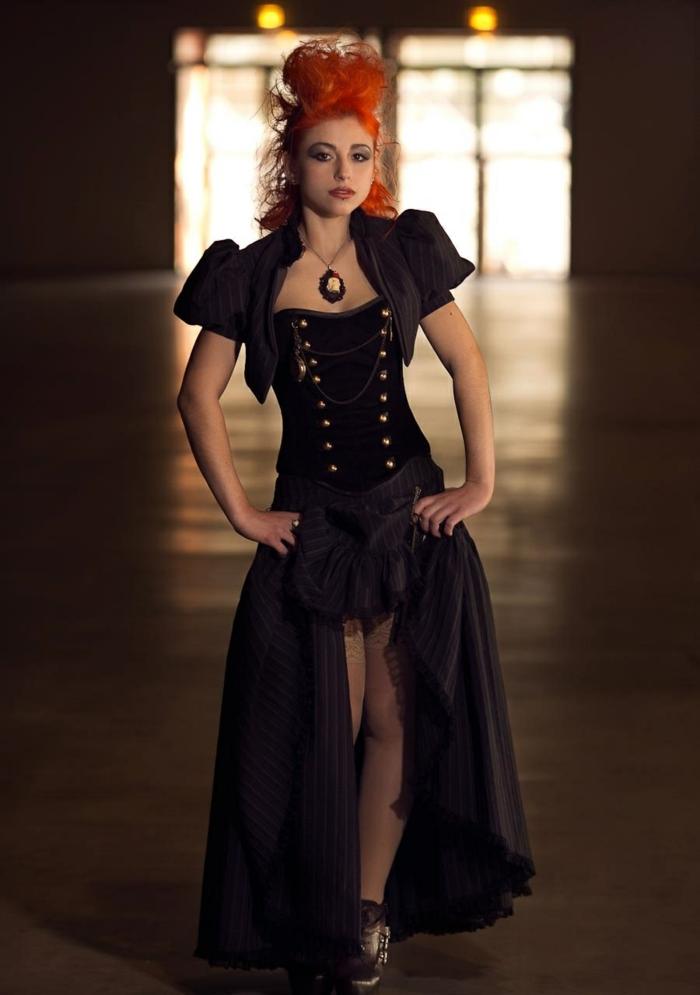 vestido steampunk estilo gótico