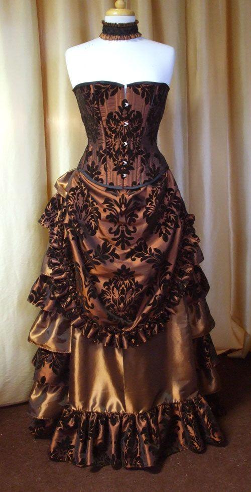 vestido original steampunk
