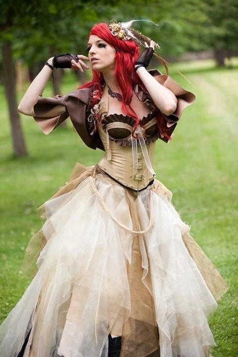 vestido steampunk boda
