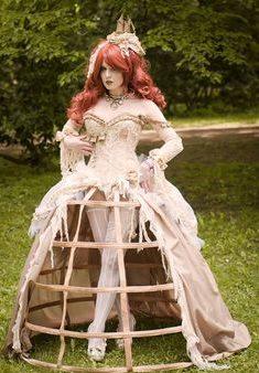 diseño original vestido steampunk