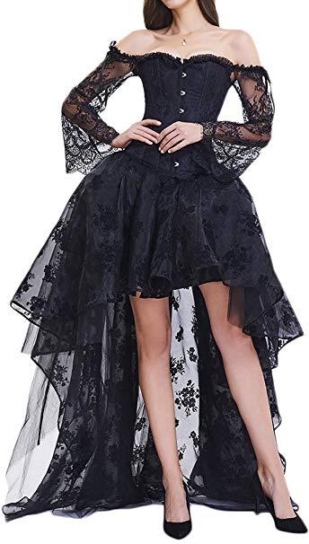 comprar amazon vestido negro steampunk mujer