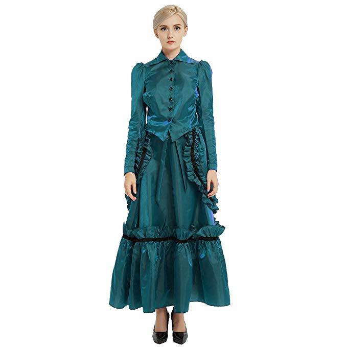 vestido comprar amazon steampunk época eduardiana