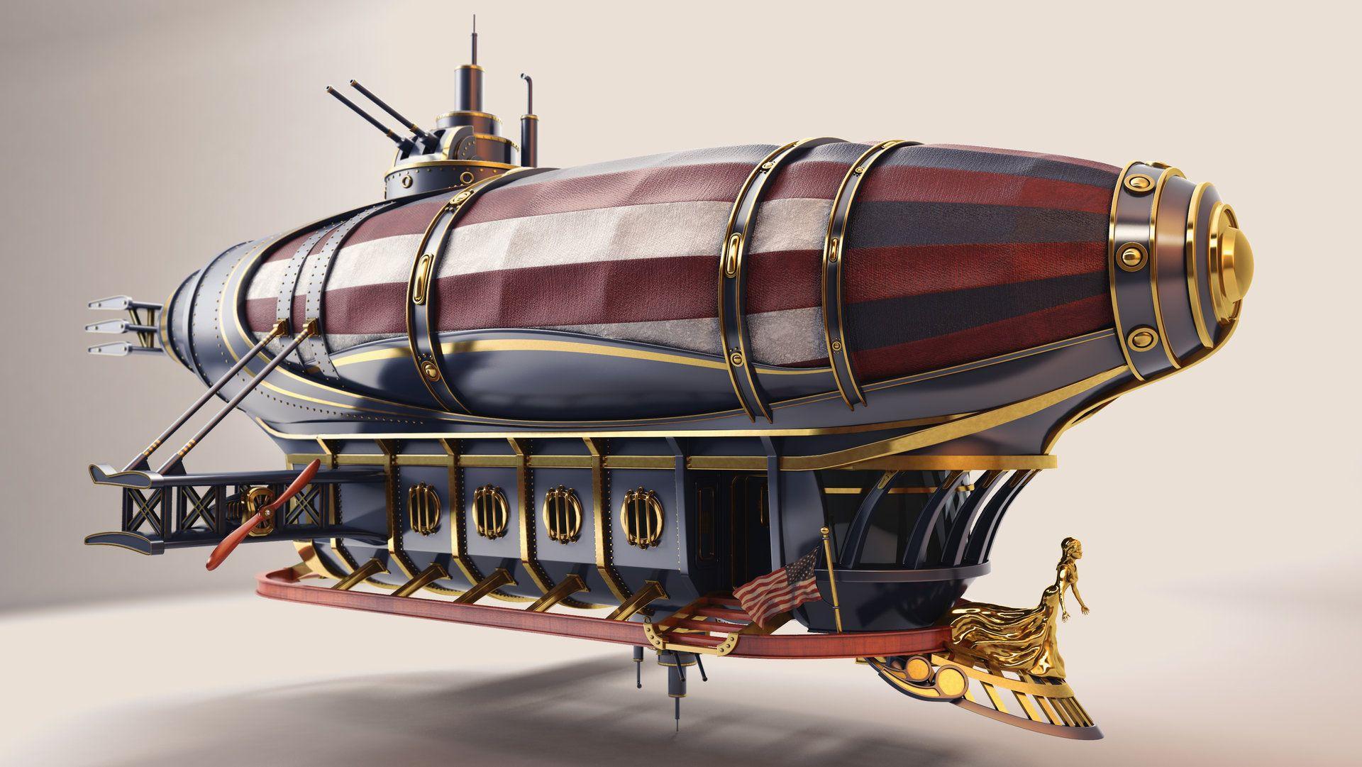 diseño zeppelin steampunk