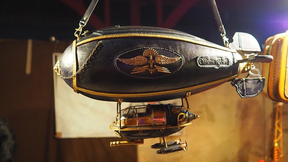 zeppelin steampunk colección decoración